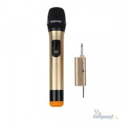 Microfone Sem Fio Profissional Uhf Alcance 30m Wvngr